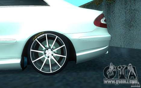 Mercedes-Benz CLK55 AMG for GTA San Andreas upper view