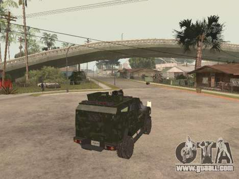 Oshkosh SandCat of Mexican Army for GTA San Andreas back left view