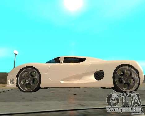 Koenigsegg CCRT for GTA San Andreas left view