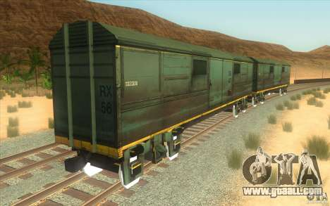 A train from the game half-life 2 for GTA San Andreas inner view