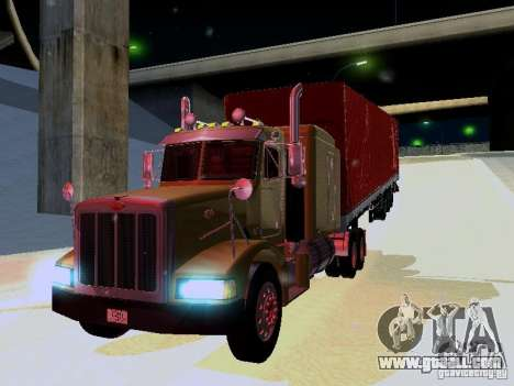 Peterbilt 377 Flattop for GTA San Andreas back left view
