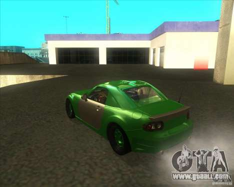 Mazda Miata MX-5 Konguard 2007 for GTA San Andreas back left view
