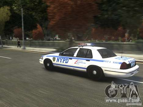 Ford Crown Victoria NYPD 2012 for GTA 4 back left view