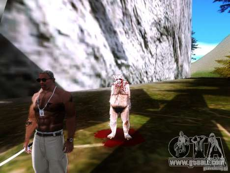 Piggsy on Mount Chilliad for GTA San Andreas second screenshot
