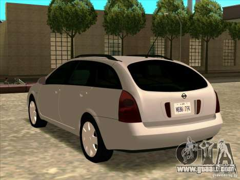 Nissan Primera Wagon for GTA San Andreas left view