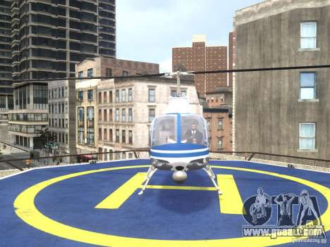 Bell 206 B - NYPD for GTA 4 right view