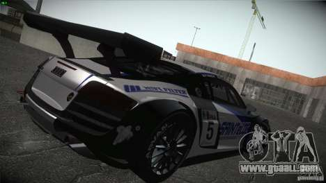 Audi R8 LMS for GTA San Andreas bottom view