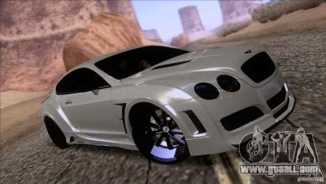 Bentley Continental GT Premier 2008 V2.0 for GTA San Andreas wheels