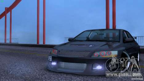 Mitsubishi Lancer Evolution 8 Drift for GTA San Andreas back view
