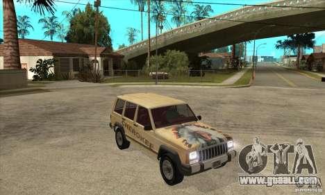 Jeep Cherokee 1984 for GTA San Andreas back view