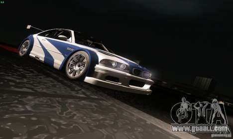 BMW M3 GTR for GTA San Andreas bottom view