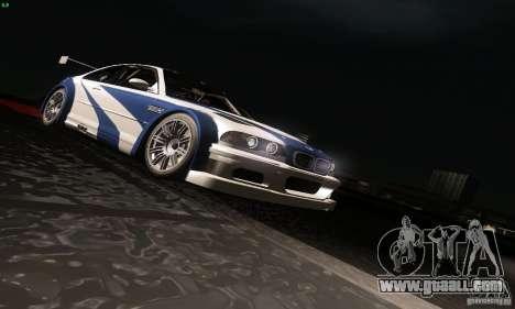 BMW M3 GTR for GTA San Andreas bottom view