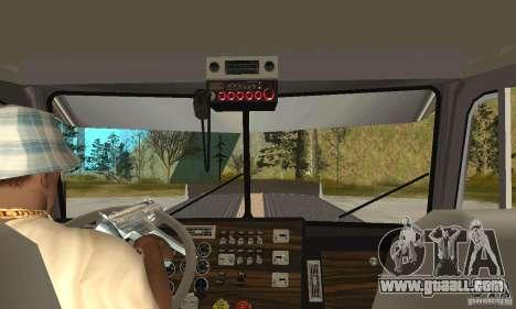 Peterbilt 379 Custom Legacy for GTA San Andreas inner view