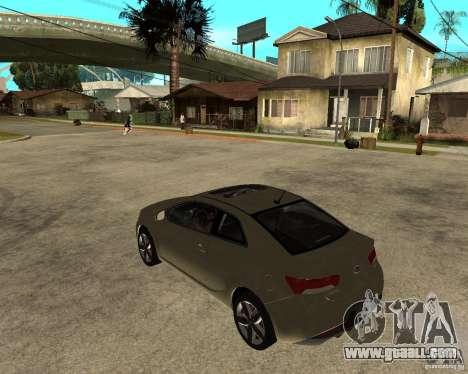 KIA Forte Coup for GTA San Andreas left view
