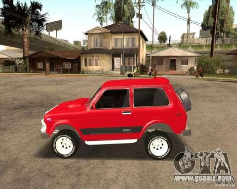 VAZ 21213 4 x 4 for GTA San Andreas bottom view