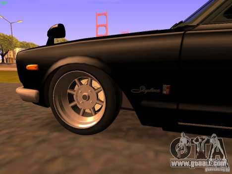 Nissan Skyline 2000GTR for GTA San Andreas side view