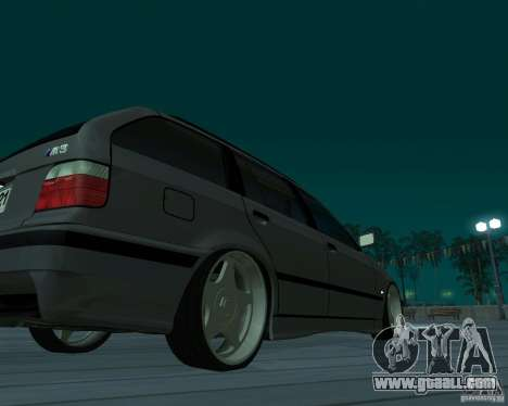 BMW E36 Touring for GTA San Andreas back left view