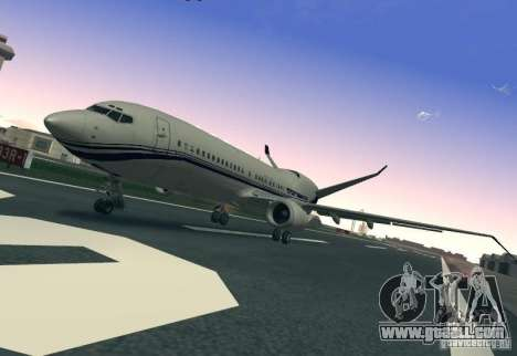 Boeing 737 Iron Man Bussines Jet for GTA San Andreas