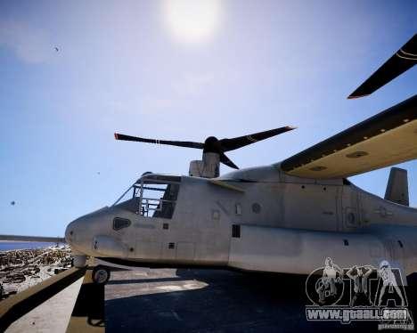 Osprey MV-22 for GTA 4 back left view