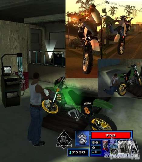 The CLEO script: Mototûning and Freestyle Motocr for GTA San Andreas second screenshot