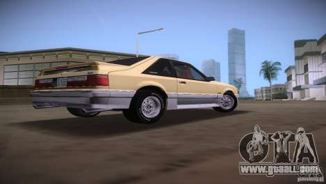 Ford Mustang GT 1993 for GTA Vice City back view
