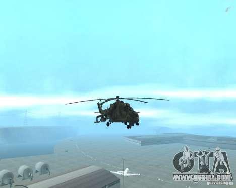 Mi-24p for GTA San Andreas back view
