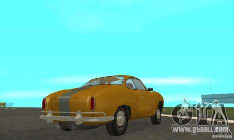 Volkswagen Karmann Ghia for GTA San Andreas right view