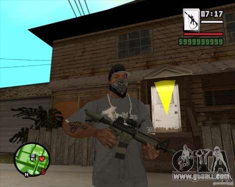 HQ M4A1 - DMG MK11 for GTA San Andreas
