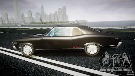 Chevrolet Nova 1969 for GTA 4 left view