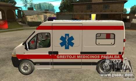 Renault Master Ambulance for GTA San Andreas left view