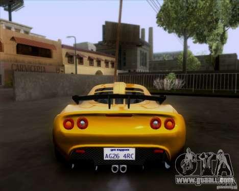 Lotus Exige for GTA San Andreas inner view