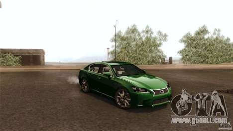 Lexus GS350F Sport 2013 for GTA San Andreas