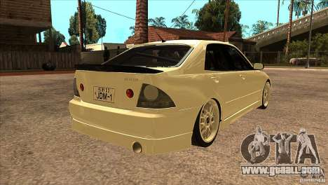Toyota Altezza RS200 JDM Style for GTA San Andreas right view