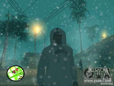 Snowfall for GTA San Andreas fifth screenshot