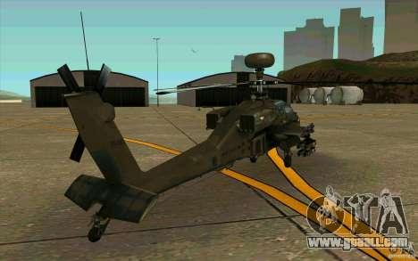 Apache AH64D Longbow for GTA San Andreas right view