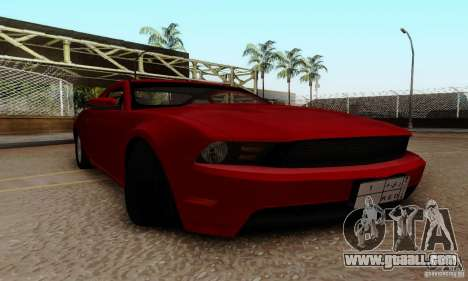 Ford Mustang 2010 for GTA San Andreas inner view