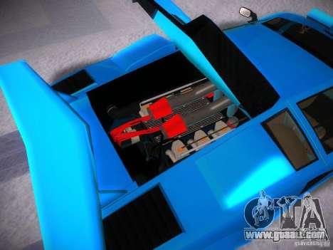 Lamborghini Countach LP5000 for GTA San Andreas inner view