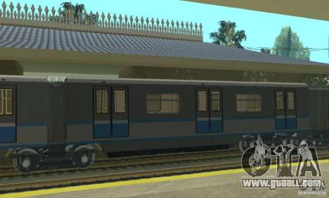 Rusich 4 train for GTA San Andreas back left view