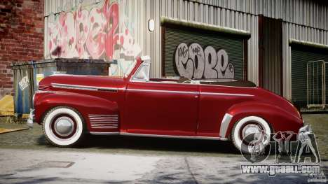 Chevrolet Special DeLuxe 1941 for GTA 4 left view