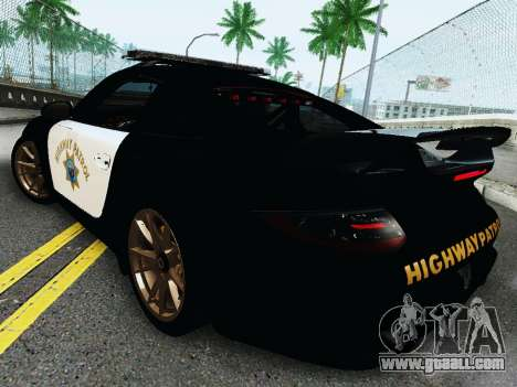 Porsche 911 GT2 RS (997) Police for GTA San Andreas right view