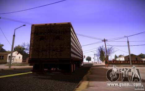 Box Trailer for GTA San Andreas left view