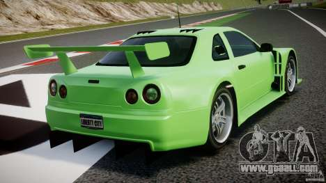Nissan Skyline R34 v1.0 for GTA 4 bottom view
