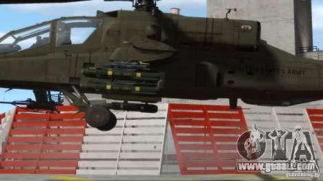 AH-64D Longbow Apache v1.0 for GTA 4 back view