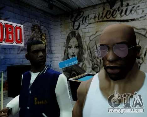 Pink Aviator glasses for GTA San Andreas third screenshot