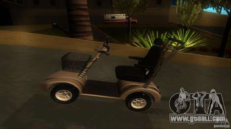 Elektroscooter - Speedy for GTA San Andreas back view