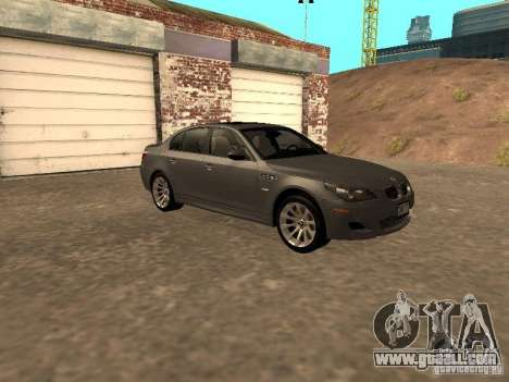 BMW M5 E60 2009 v2 for GTA San Andreas