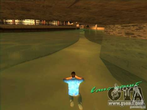 Swimming with the new animation for GTA Vice City third screenshot