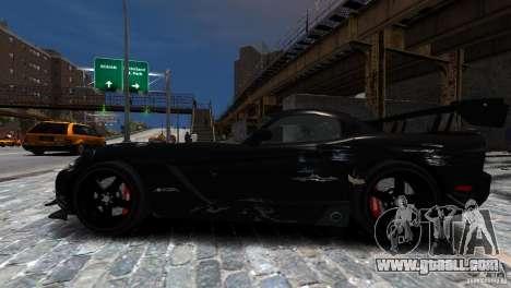 Dodge Viper SRT-10 ACR 2009 for GTA 4 side view