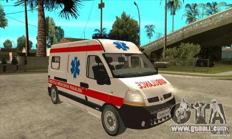Renault Master Ambulance for GTA San Andreas back view