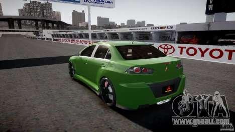 Mitsubishi Lancer Evolution X Tuning for GTA 4 bottom view